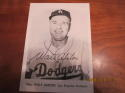 1965 walt alston Los Angeles Dodgers 5x7 Picture Pack photo card signed jsa