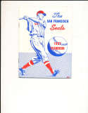 1957 The San Francisco Seals baseball PCL yearbook