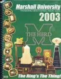 2003 Marshall University football Guide a6 bx66
