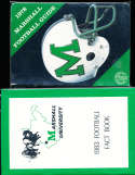 1978 Marshall University football Guide (only listed) a6 bx66