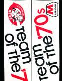 Cincinnati Reds Marathon 1970's bumper sticker bx1 (only one listed)
