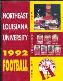 1992 Northeast Louisana University Football Media Guide a9 BX80