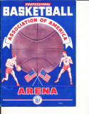 1948 BAA St. Louis Bombers vs Providence Streamrollers Basketball Program nba15