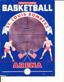 1948 BAA St. Louis Bombers vs Baltimore Bullets Basketball Program nba15