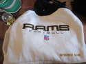 Los Angeles Rams Reebok NFL Warm up Sweatshirt with hoodie