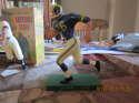 Jon Arnett Los Angeles Rams Hartland Football Statue