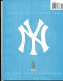 2001 New York Yankees Yearbook nm   bxy3