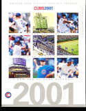 2001 chicago Cubs Yearbook / program nm   bxy3