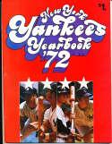 1972 new York Yankees Yearbook nm   bxy3