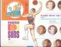 1970 Phoenix Suns IHOP Team picture unused paper placemat 15x10