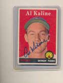1958 Topps #70 Al Kaline Detroit Tigers Signed baseball card