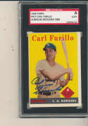 1958 Topps #417 carl Furillo dodgers Signed baseball card sgc auth