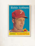 1958 Topps #230 Richie Ashburn Phillies Signed baseball card