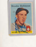 1958 Topps #307 Brooks Robinson Orioles Signed baseball card
