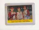 1958 Topps #386 baily, tebbets, F. Robinson signed young sluggers card