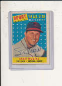1958 Topps #476 Stan Musial Cardinals Signed baseball card