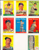 Cal McLish Indians #208 1958 Topps Signed card (only one listed) bin58
