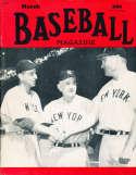 March 1950 Baseball Magazine Casey Stengel John Mize Tommy Henrich BBMag12