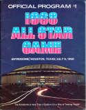 1968 All star Game Baseball unscored Program