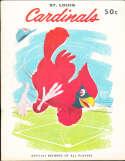 St. Louis Cardinals 1958 Yearbook em