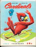 St. Louis Cardinals 1957 Yearbook em