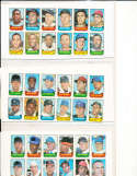 1969 topps stamp uncut set 18/20 sheets em/nm mays, clemente,