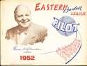 1952 Eastern Baseball League Pilot Yearbook bxyb