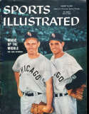 8/10 1959 Sports Illustrated Nellie Fox and Aparcio no label newsstand