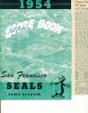 8/14 1954 San Francisco seals 24 player signed cover! Pcl program