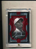 2015 Tiger Woods Signed Upper Deck master collection red 17/20