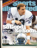 11/22 1999 Peyton Manning Baltimore colts Sports Illustrated newsstand nrmt no label