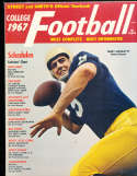 1967 Terry Hanratty Notre Dame Street & Smith College Football Annual Yearbook Guide
