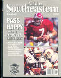 1992 SEC Southeastern Conference Alabama Jay barker Athlon National College Football Annual Yearbook Guide