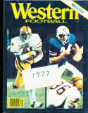 1977 Western Athlon College Football Annual Yearbook Guide ASU