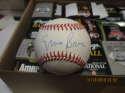 Ernie Banks chicago cubs Signed ONL White Baseball mint