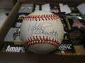 Mike Schmidt Signed Baseball ONL white mlb stain