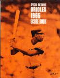 1965 Baltimore orioles vs Cleveland Indians scored program