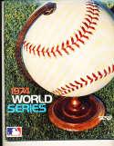 1974 World Series program signed unscored program em