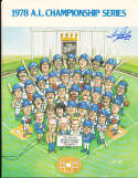 1978 Kansas City Royals A.L. Championship Series signed program em