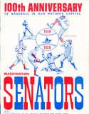 1959 Washington Senators baseball program em signed by 5 players