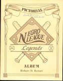 Pictorial Negro League Legends Album Robert Retort Signed book Mr. Irvin bxauto1