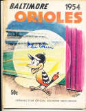 1954 Baltimore Orioles first baseball yearbook signed