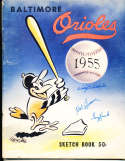 1955 Baltimore Orioles baseball yearbook signed by players!