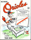 1959 Baltimore Orioles baseball yearbook signed by players!