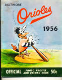 1956 Baltimore Orioles Baseball Yearbook signed