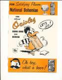 1956 Baltimore orioles vs New York Yankees scored program