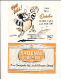 1960 Baltimore orioles vs Chicago White sox scored program
