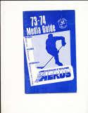 1973-74 WHA Houston Aeros Guide em bxh1