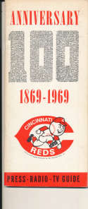 1969 Cincinnati Reds Press Media Guide em bxguide