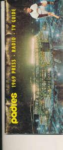 1969 San Diego Padres Press Media Guide em bxguide rubbing